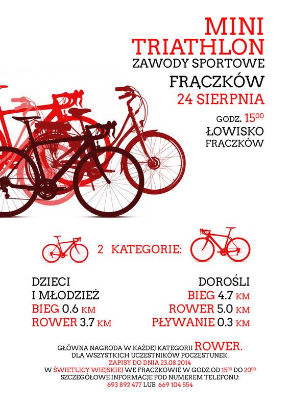Mini Triathlon - zawody sportowe Frączków 24 sierpnia 2014 roku.jpeg